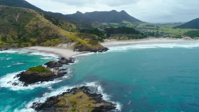 ocean beach, north island, new zealand. - new zealand stock videos & royalty-free footage