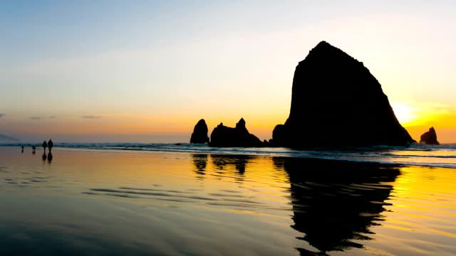vidéos et rushes de ocean beach - côte de l'oregon