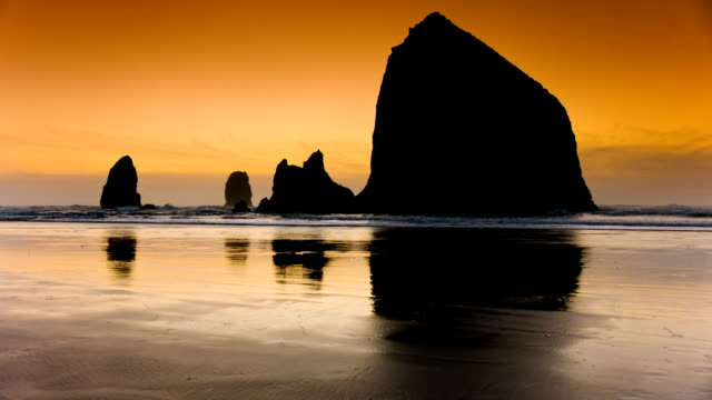 ocean beach - oregons küste stock-videos und b-roll-filmmaterial