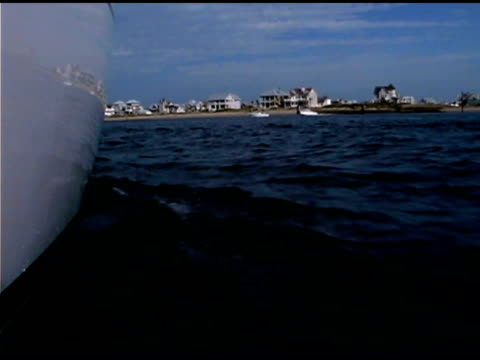 ocean by boat - bald head island stock videos and b-roll footage