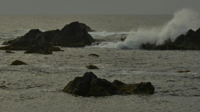vídeos de stock, filmes e b-roll de ocean coast of azores island - ilhas do oceano atlântico