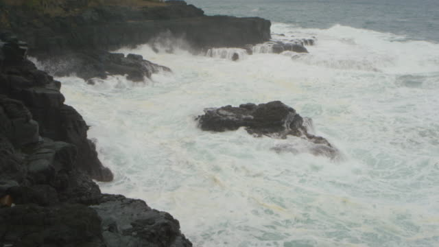 Ocean cove with waves crashing