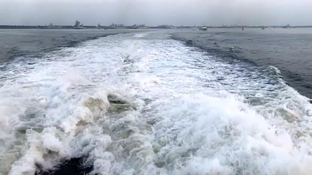 Ocean Foam water flow spraying and splashing