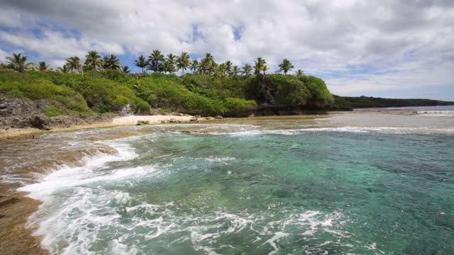 ocean landscape, niue island - south pacific ocean stock videos & royalty-free footage
