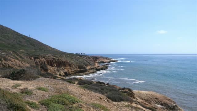 Ocean panorama in San Diego in 4K