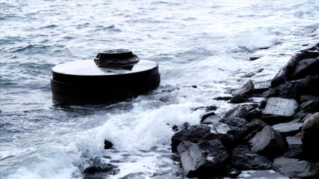 ocean liquami tubo di ingresso - pacifico occidentale video stock e b–roll