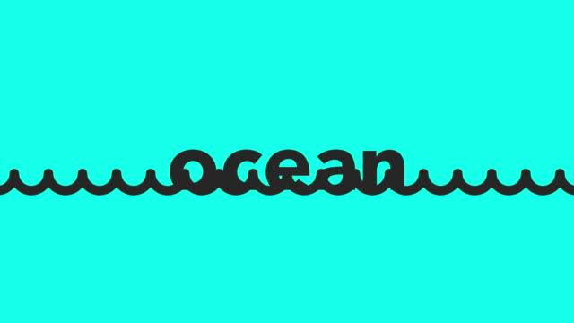 Ozean - Vektor animieren