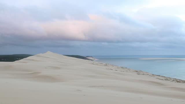 ocean view at the top of the pilat dune - dune of pilat stock videos and b-roll footage