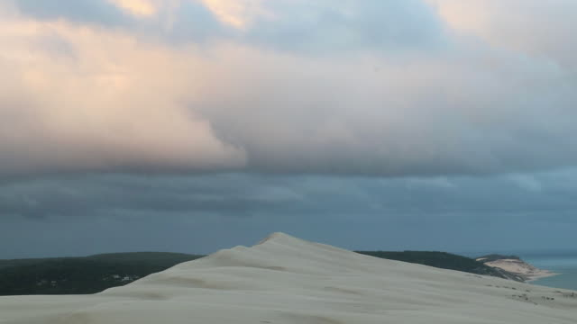 ocean view at the top of the pilat dune - 40 seconds or greater stock videos & royalty-free footage