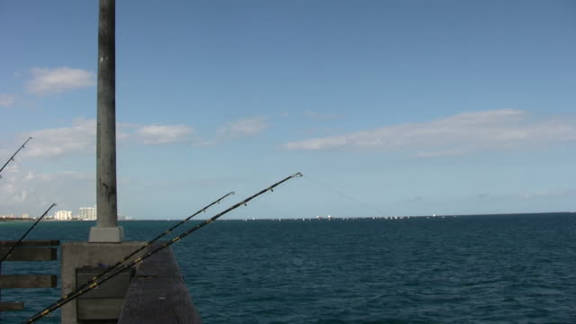 ocean view - fishing rod stock videos and b-roll footage
