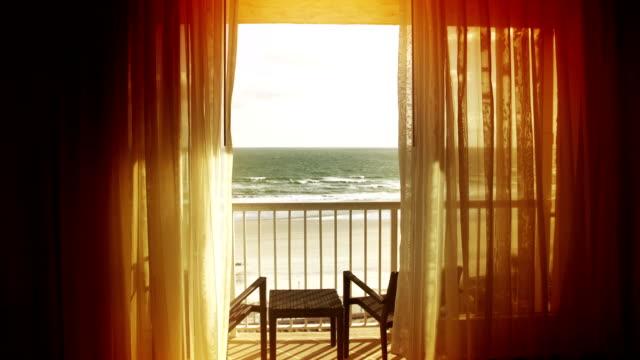 ocean view with balcony - veranda stock videos & royalty-free footage