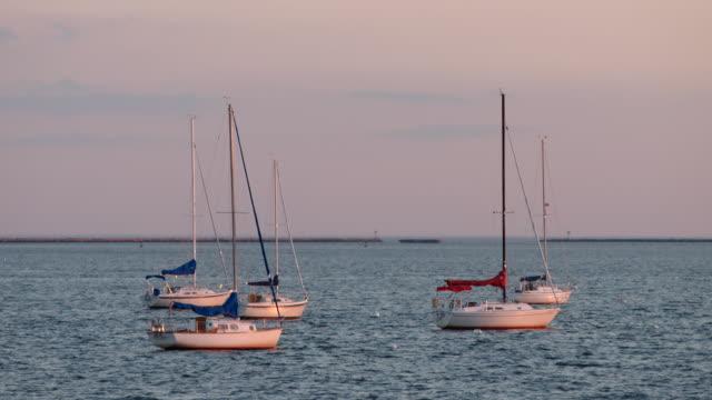 ocean views from bay - ニューヘイブン点の映像素材/bロール