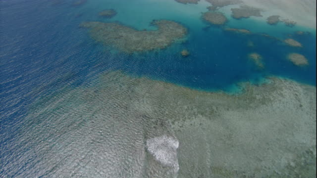 ocean water ripples above the great barrier reef. available in hd. - great barrier reef stock videos & royalty-free footage