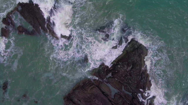 ocean wave aerial view - seascape stock videos & royalty-free footage