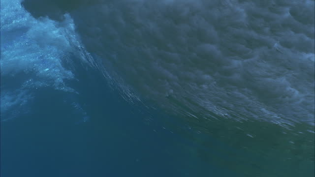 SLO MO ECU Ocean wave / Moorea, Tahiti, French Polynesia