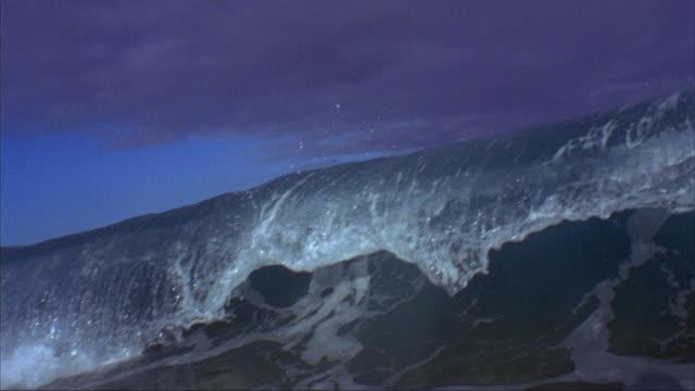 vídeos y material grabado en eventos de stock de slo mo, cu, ocean wave, oahu's north shore, hawaii, usa - pipeline wave