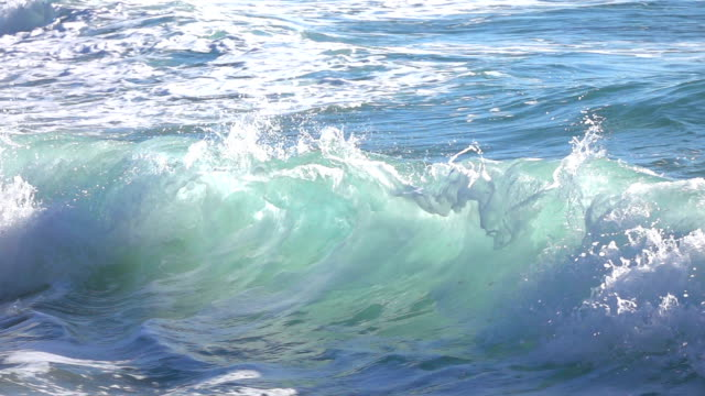 ocean waves in slow motion - material stock videos and b-roll footage