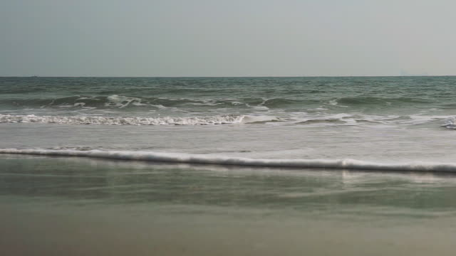 ocean waves on the beach full frame scene - barren stock videos & royalty-free footage