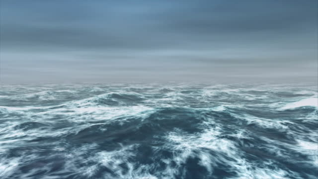 ocean waves roll in the mist - seascape stock videos & royalty-free footage