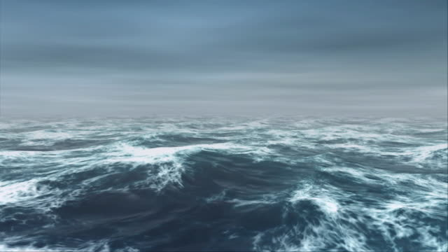 ocean waves roll in the mist (loop). - seascape stock videos & royalty-free footage