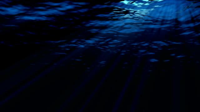 hd: ocean waves underwater - depth marker stock videos & royalty-free footage