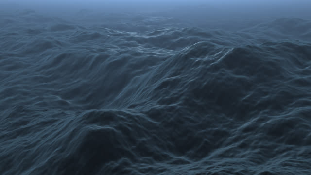 Ocean waves undulate and flow (Loop).