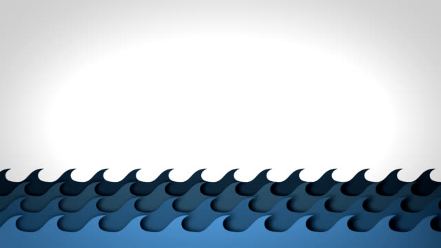 ocean waves - illustration stock videos & royalty-free footage