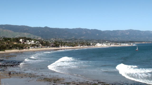 oceanfront - santa barbara, california - mesa stock videos and b-roll footage