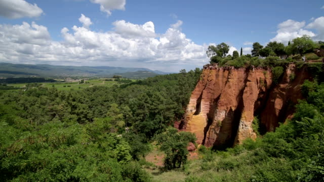 ochre rocks of roussillon - luberon stock videos & royalty-free footage