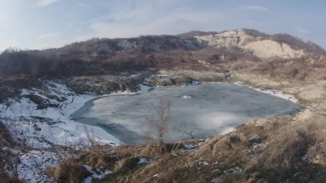 ocnele mari - salt lake - romania stock videos & royalty-free footage