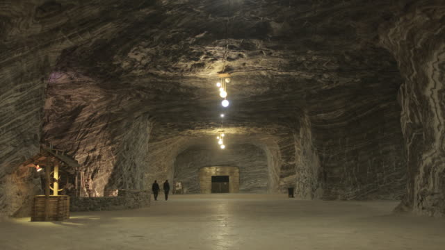 ocnele mari salt mine - romania stock videos & royalty-free footage