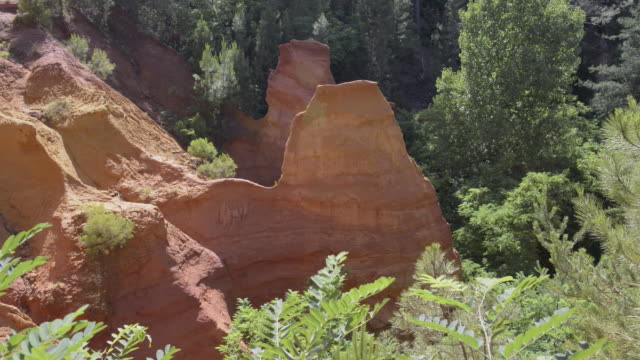 ocre canyon of roussillon - luberon stock videos & royalty-free footage