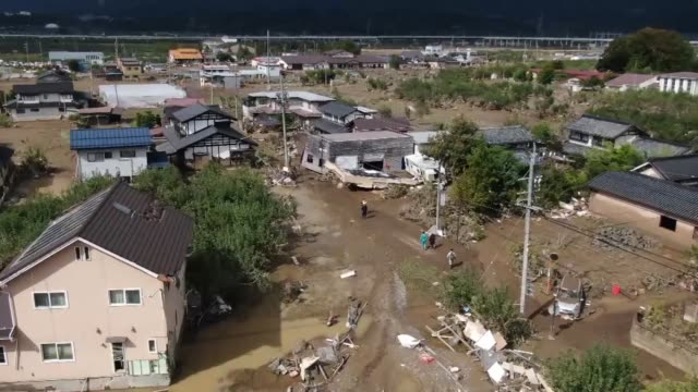japanese rescuers on tuesday raced against the clock to locate more than 10 people still missing after a catastrophic typhoon over the weekend killed... - vortex stock videos & royalty-free footage