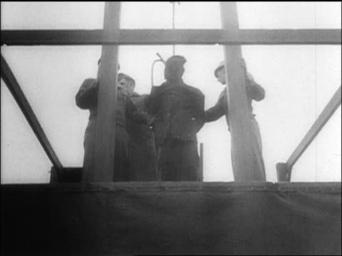 b/w oct 16 1946 military men hanging nazi convicted of war crimes / nuremberg / newsreel - execution stock videos & royalty-free footage