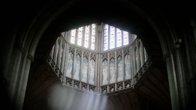 octagonal tower of ely cathedral - octagon stock videos & royalty-free footage