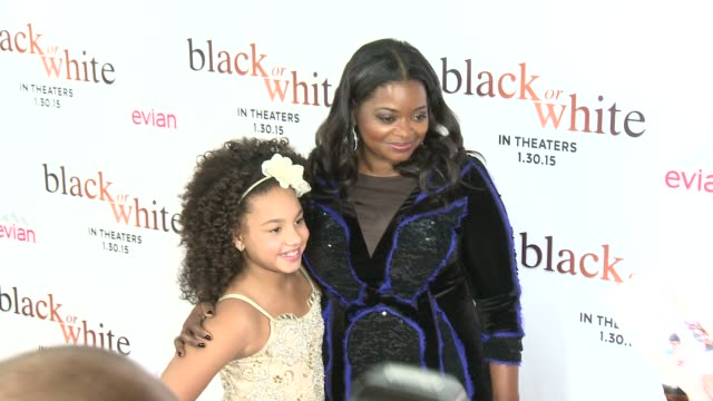 Octavia Spencer and Jillian Estell at the 'Black Or White' Los Angeles Premiere at Regal Cinemas LA Live on January 20 2015 in Los Angeles California
