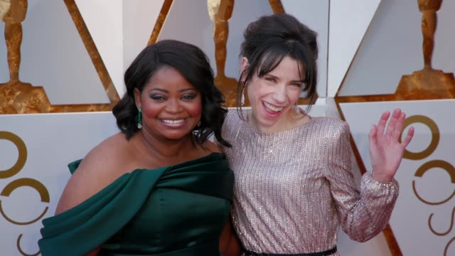 Octavia Spencer and Sally Hawkins at the 90th Academy Awards Arrivals at Dolby Theatre on March 04 2018 in Hollywood California