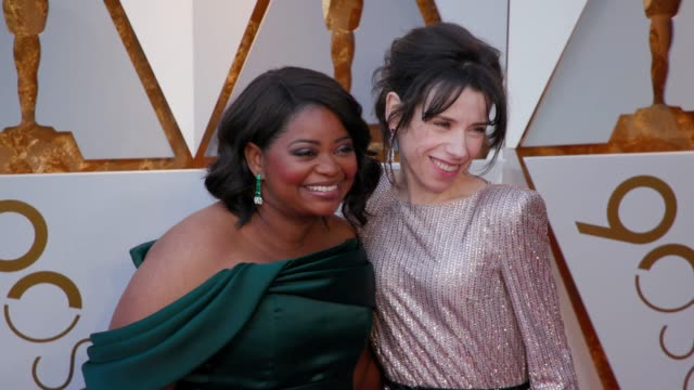 octavia spencer and sally hawkins at the 90th academy awards arrivals 4k footage at dolby theatre on march 04 2018 in hollywood california - sally hawkins stock videos & royalty-free footage