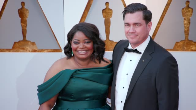 Octavia Spencer and Tate Taylor at the 90th Academy Awards Arrivals at Dolby Theatre on March 04 2018 in Hollywood California