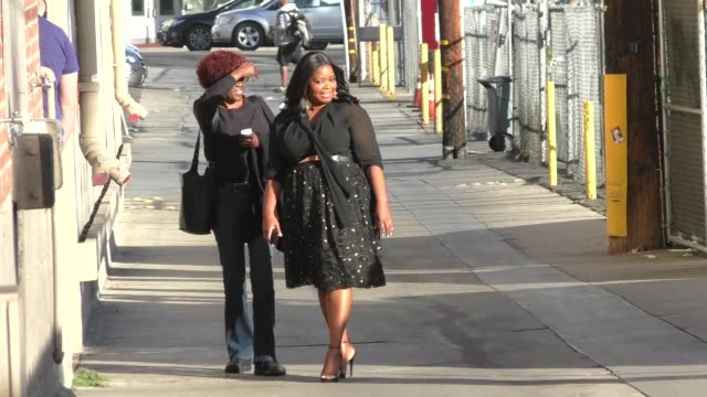 Octavia Spencer arrives at Jimmy Kimmel Live at El Capitan Theater in Hollywood in Celebrity Sightings in Los Angeles