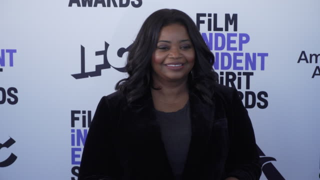 octavia spencer at the 2020 film independent spirit awards on february 08, 2020 in santa monica, california. - film independent spirit awards stock videos & royalty-free footage