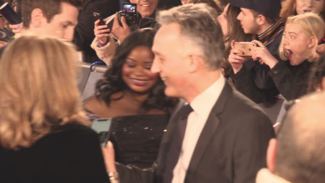 octavia spencer at the ee british academy film awards at royal albert hall on february 18 2018 in london england - time's up social movement stock videos and b-roll footage