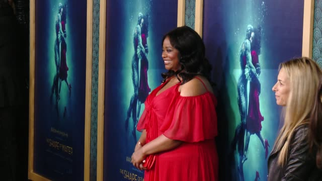 octavia spencer at the shape of water los angeles premiere presented by fox searchlight pictures at the academy of motion picture arts and sciences... - academy of motion picture arts and sciences stock-videos und b-roll-filmmaterial
