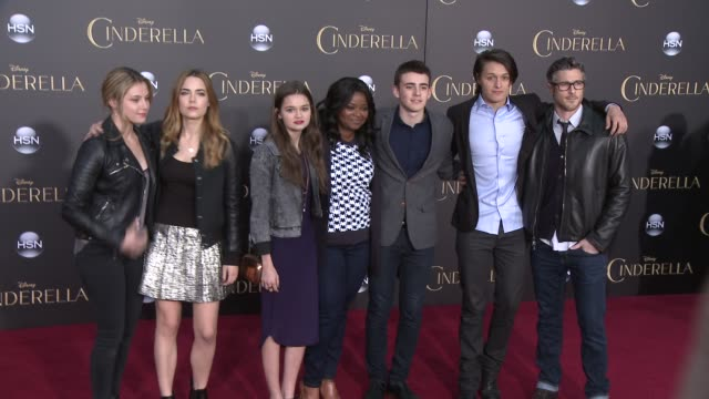 Octavia Spencer Dave Annable Zoe Levin Ciara Bravo Rebecca Rittenhouse Charlie Rowe and Nolan Sotillo at the Disney's Cinderella World Premiere at...