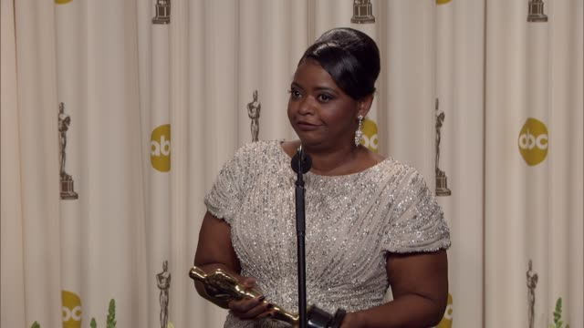 Octavia Spencer describes how she feels about everyone's reaction to the film at 84th Annual Academy Awards Press Room on 2/26/12 in Hollywood CA