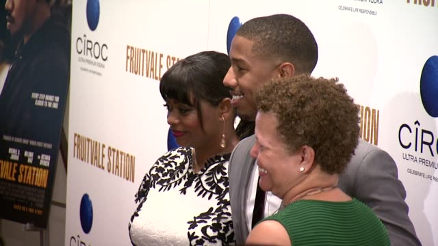 Octavia Spencer Michael B Jordan and Debra Lee CEO of BET Networks at 'Fruitvale Station' New York Screening Arrivals on July 08 2013 in The Museum...