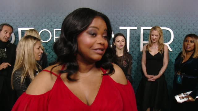 INTERVIEW Octavia Spencer on her initial reaction to the script how it felt to know Guillermo Del Toro wrote this character for her and talks about...