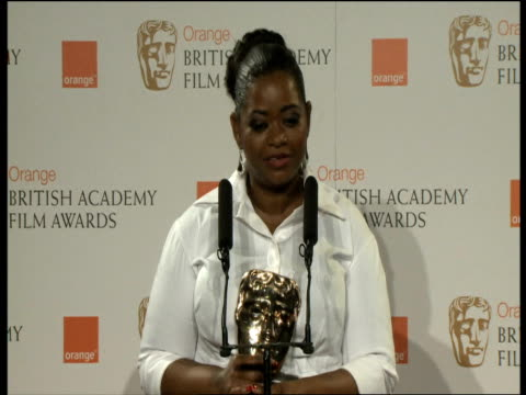 Octavia Spencer on her prize at the Orange British Academy Film Awards 2012 Press Room INTERVIEW Octavia Spencer on her prize at the Ora at The Royal...