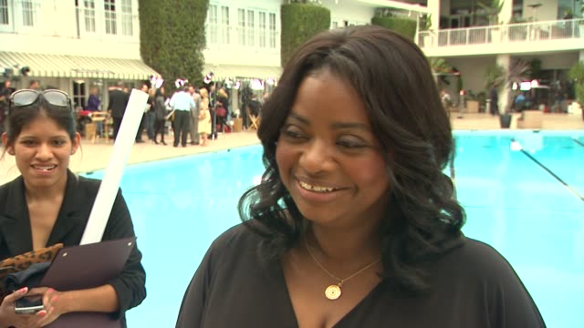Octavia Spencer on the luncheon what they were told about Oscar speeches at 84th Academy Awards Nominations Luncheon on 2/6/2012 in Beverly Hills CA