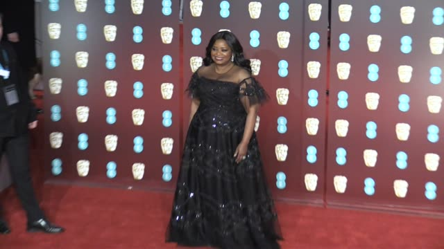 octavia spencer on the red carpet of the 2018 bafta award ceremony in london london uk 18th february 2018 - time's up social movement stock videos and b-roll footage